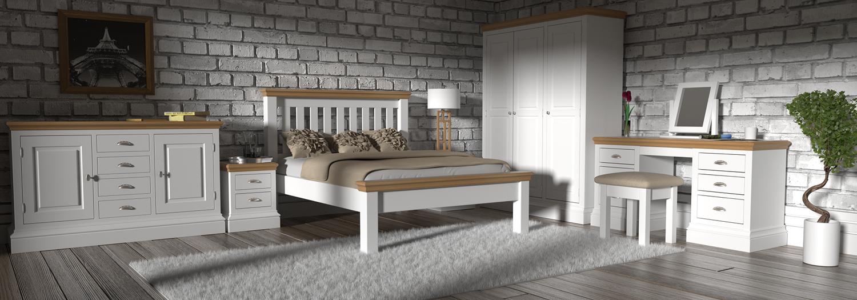 białe meble z drewnna