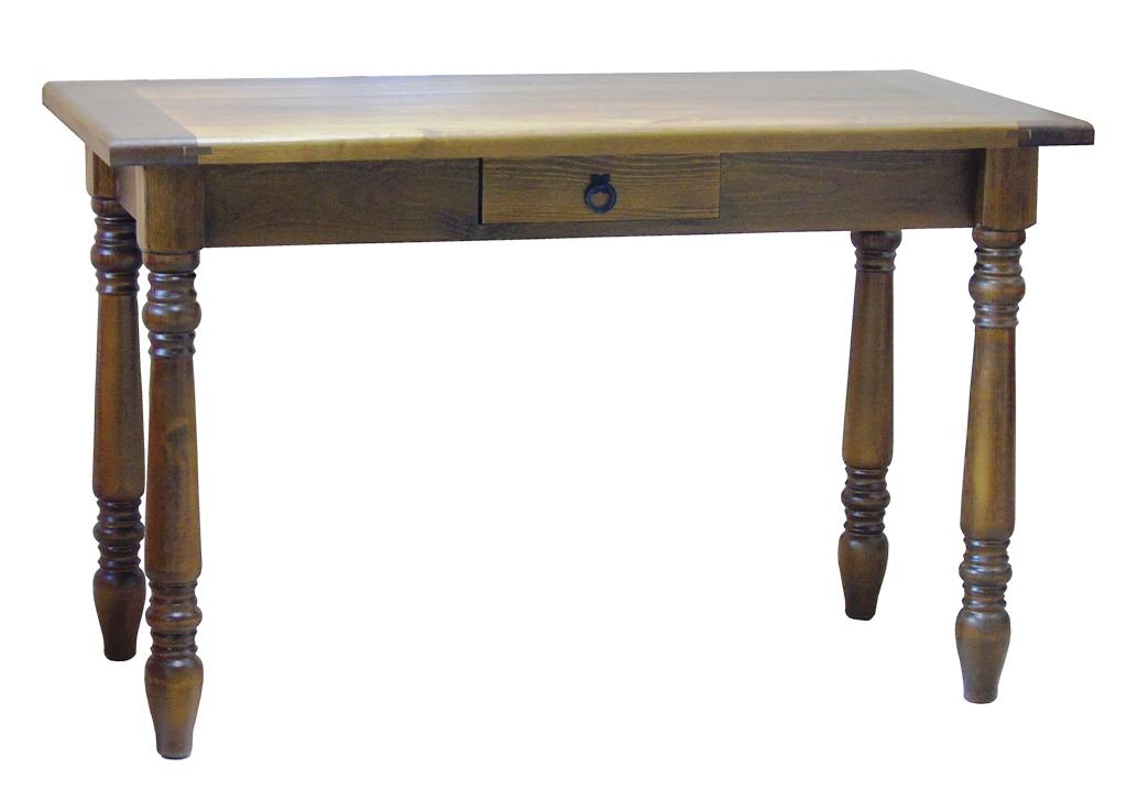 zdobiony stół z litego drewna