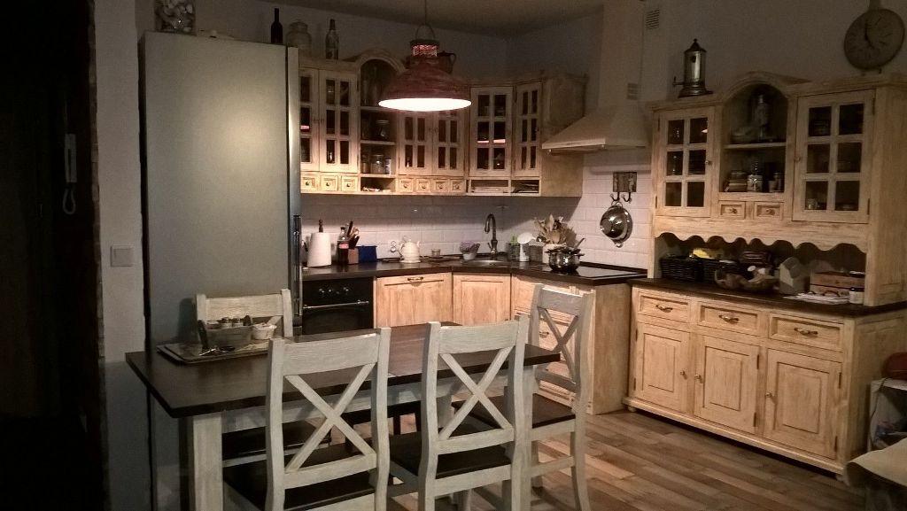 kuchnia z litego drewna