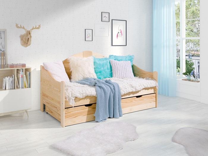 łóżko Antoś 160x80 Materac Szuflada Na Pościel Barierka